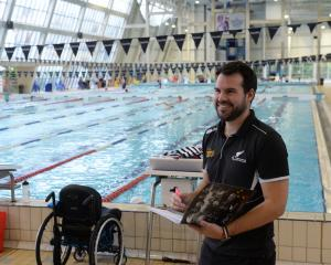 Para-sport New Zealand community development manager Kieran Wall during the para-swimming camp at...