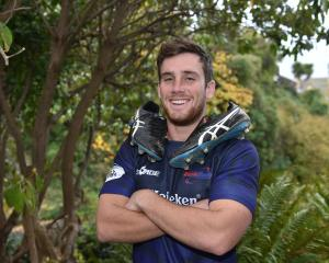 Otago University student and Guam international Cory Morrison. Photo: Gregor Richardson