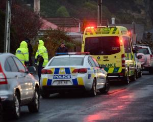 A pedestrian was hit by a car on Tainui Rd in Musselburgh this morning. Photo: Gerard O'Brien