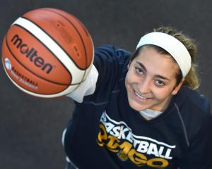New Otago Gold Rush player Dana Goularte at the Edgar Centre yesterday as she awaits her first...