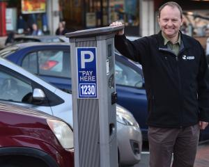 Nick Sargent of the Dunedin City Council reviewing parking in the City. Photo: Peter McIntosh