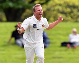 Neil Wagner celebrates a wicket against Canterbury last year. Photo: Getty Images