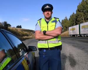 The road ahead . . . New Otago Coastal team leader road policing Senior Sergeant Jared Kirk is...