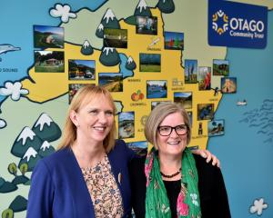 Otago Community Trust chief executive Barbara Bridger and Taieri Community Facilities Trust...