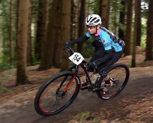 Haley van Leeuwen in action during the Otago mountain bike cross-country and single speed...