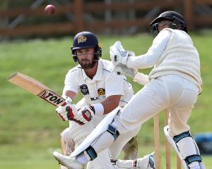 Otago batsman Neil Broom sweeps the ball during a Plunket Shield match against Wellington at the...