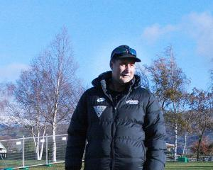 Black Sticks coach Mark Hager at a training session in Cromwell this week. Photo: Adrian Seconi