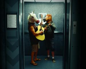 You never know what you'll find in the lift at the Dunedin Public library during the Nook and...