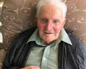 Keith Rowe relaxes at Holmwood Rest Home in Rangiora ahead of his 100th birthday last Sunday....