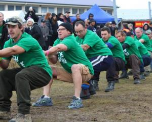 The champion team, Grown, competes in a past Sefton Tug of War competition. Photo: Supplied