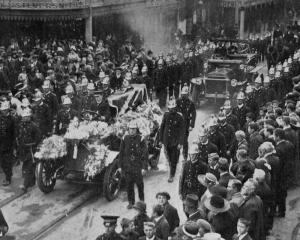 The funeral of the late fireman Robert Baxter, who lost his life when one of the Dunedin Fire...