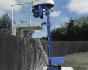 Making waves . . . The DeLaval Agitator is very good at mixing the effluent prior to pumping....