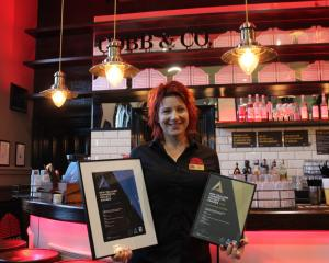 Winning ways . . . Cobb & Co Dunedin director Ange Copson displays the national commercial...