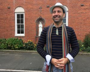 Burns Lodge at Holy Cross Centre business manager Clinton Chambers outside the historic building...