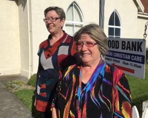 Mosgiel Community Food Bank co-ordinator Michelle Kerr and Taieri Christian Care Trust chairwoman...