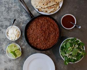 Vension chilli with flatbread, sour cream and chipotle sauce. Photos: Emma Willetts