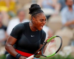 Serena Williams put on an impressive display to down Julia Goerges in the third round. Photo:...