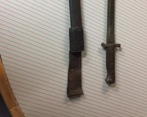 An antique bayonet and sheath found among stolen property retrieved from a spate of recent thefts...