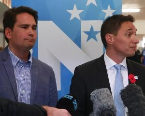Dan Bidois (right) with National Party leader Simon Bridges. Photo: NZME