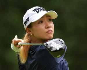 Lydia Ko plays her tee shot on the fourth hole during the second round of the 2018 U.S. Women's...