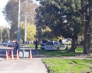 AOS at the scene near Hastings Boys' High School. Photo: NZME