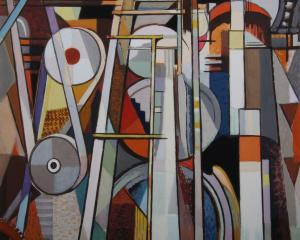 Homage to Leger, by John Weeks. Photo: Dunedin Public Art Gallery