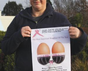 IMG 3209: Leona McCracken of Te Anau, organizer of the 2018 Te Anau Pink Ribbon Breast Cancer...