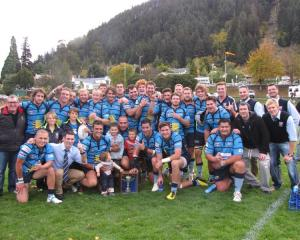 Members of the Wakatipu premier rugby team following their successful White Horse Cup defence...