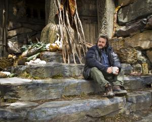 Peter Jackson on the set of The Hobbit. Photo: Mark Pokorny