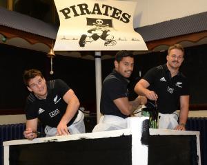 All Blacks Matt Todd, Te Toiroa Tahuriorangi and Sam Cane (right) helped revamp the Pirates Rugby...