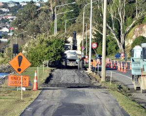 Work to improve the surface of the Portsmouth Dr cycleway and walkway in Dunedin is expected to...