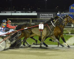 Sea Rover (inner) and driver John Morrison hang on to win by a nose over Imran Khan and Genevieve...