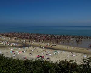 2505 women break a Guinness World record for the largest number of people skinny dipping together...