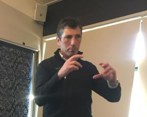 Beef + Lamb New Zealand chief executive Sam McIvor fields questions at the organisation's...