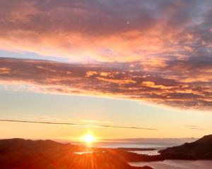 Just a couple of days away from the shortest day now. The sun rising yesterday beyond Aramoana...