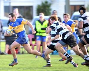 Taieri and Southern played out an epic at Bathgate Park. Photo: CHRISTINE O'CONNOR