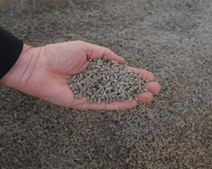 The diatomite is processed into fertiliser pellets (a handful of which can be seen top right)....