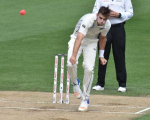 Tim Southee may get another chance to wreck havoc with the pink ball this summer. Photo: Getty...