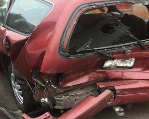 Barbara Hansen-Galyer was driving through Flat Bush when her car was rear-ended. Photo: Supplied...