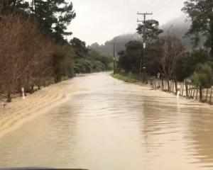 Flooding has closed roads on both sides of the Coromandel Peninsula. Photo: Supplied via NZ Herald