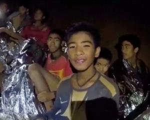 The boys have bee trapped inside Tham Luang cave for two weeks. Image: Thai Navy Seal via Reuters