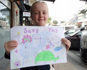 Arrowtown 8-year-old Maggie Ryan is on a mission to get people to reduce their plastic use. Photo...