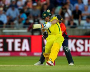 Aaron Finch put on an impressive display against Zimbabwe. Photo: Getty Images