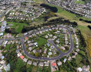 The gain in Dunedin house values is almost double the national figure; pictured, Columba Ave,...