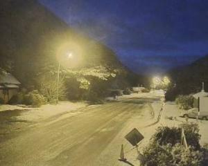 Snow at Arthur's Pass in the central South Island this morning. Photo: NZTA