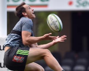 Ben Smith during the Highlanders captain's run at the Forsyth Barr Stadium on Thursday. PHOTO...