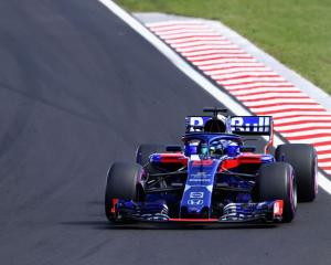 Brendon Hartley races during the Hungarian Grand Prix. Photo: Getty Images