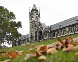 The University of Otago's signature clock tower (above). Photos: ODT