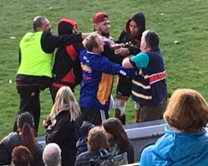 The aftermath of an alleged assault on a referee following a club rugby game in Oamaru at the...