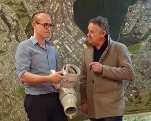 Dunedin City Council 3 Waters manager Tom Dyer explains the inner workings of a reflex valve to...